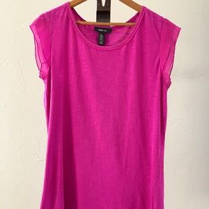 Magenta Blouse with Flirty Sleeves